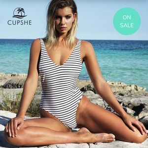 NEW - CUPSHE - striped one piece